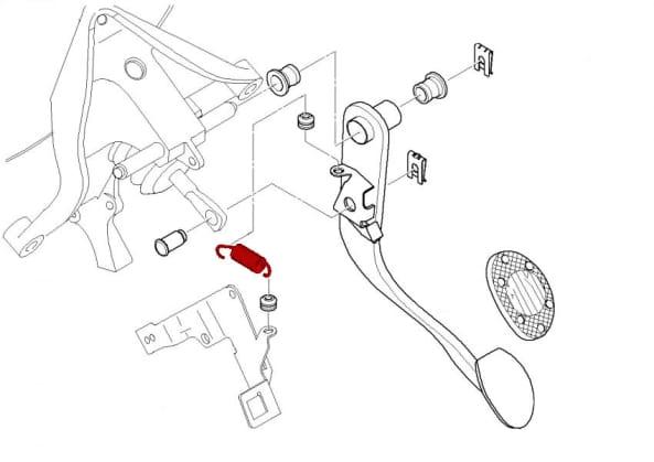 Brake Pedal Return Spring 35211161587 - Genuine Bmw