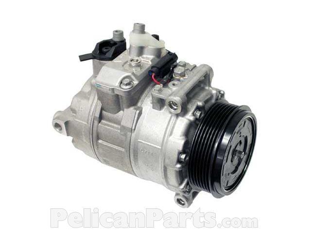 A/C Compressor with Clutch 0022305211 - Denso - Mercedes-Benz - 002-230-52-11 | Pelican Parts