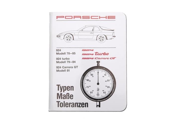 Porsche 944 1982-1983 Technical Specification Booklet WKD422820