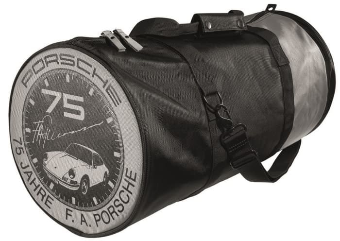 Porsche 75 Years F A Porsche Sports Bag Pelicanparts Com