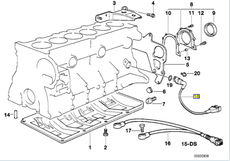 1261283007 580 bmw e30 e36 crankshaft position sensor replacement 3 series BMW E90 Music-Diagram at aneh.co