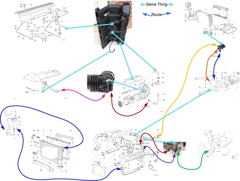 101 Projects 12 Intake Manifold on 1999 bmw 528i engine diagram vacuum