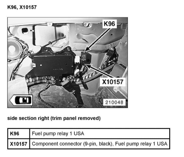 2004 Bmw 325i Fuel Pump Fuse Location