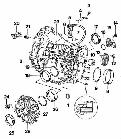 porsche boxster differential    manual transmission fluid change - 986    987  1997-08