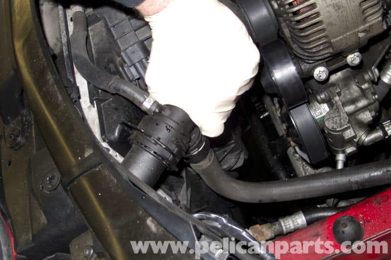 Right Passenger Side Engine Lower Oil Cooler Radiator Lines Hose OEM BMW E92 E93