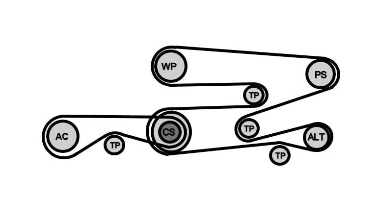bmw e39 5-series drive belt replacement | 1997-2003 525i ... 540i belt diagram