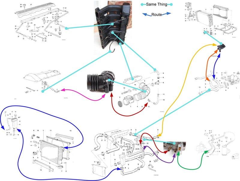 Bmw E36 3-series Intake Manifold Removal  1992