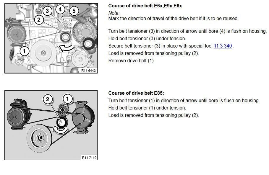 Bmw E90 Drive Belt Replacement E91 E92 E93 Pelican Parts Diy Maintenance Article
