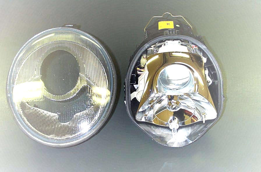 how to clean yellow headlights inside